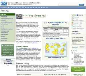 CDC Swine Flu